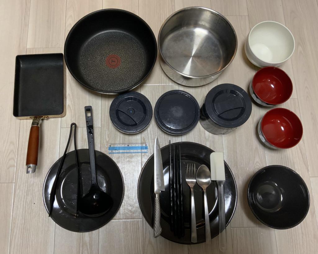食洗機に毎日入れている食器と鍋です